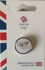 OFFICIAL TEAM GB RIO 2016 MASCOT BASKETBALL PICTOGRAM PIN