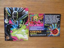 MARVEL UNIVERSE 1994 CARD # 140 STRANGE SIGNED BY MARK BUCKINGHAM, WITH POA