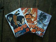 Naruto 25-27 Manga Good/Very Good Condition Job Lot