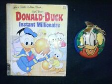 vintage 1980's donald duck christmas ornament and book lot cool fifth printing!!