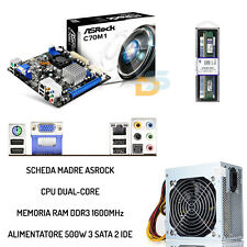 BUNDLE SCHEDA MADRE + PROCESSORE CPU + RAM 4GB + ALIMENTATORE 500 WATT UPGRADE
