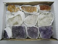 BULK  AMETHYST/CITRINE/CLEAR QUARTZ  CLUSTERS  BRAZIL- 11-13  PCS.- BEST PRICE!
