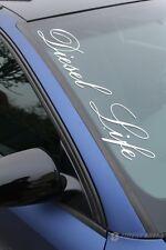 """""""Diesel Life"""" Frontscheibenaufkleber 25 Farben Aufkleber Folie Sticker Tuning"""