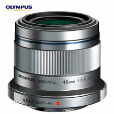 New Olympus M.ZUIKO Digital ED 45mm F1.8 Micro PEN Lens Micro Four Thirds Silver