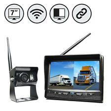 "Wireless 7"" LCD Split Screen Backup Camera with Cigarette Lighter Plug 130° View"