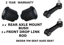 VW GOLF MK4 1998-2003 Front Drop Link Rods & Rear Suspension Axle Mount Bushes