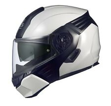 NEW OGK KABUTO KAZAMI WHITE Metallic/Shine Black L Large Helmet Japanese Model