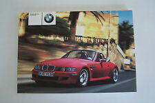 2002 bmw z3 m roadster coupe Owners Manual E36 parts 3 Series new original m z3