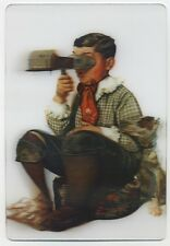 The SPHINX in 3-D by Norman Rockwell Lenticular 3-D Postcard NEW