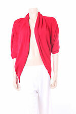 New Red Viz-A-Viz Bolero Jacket Cardigan Designer Ladies Top Size 12