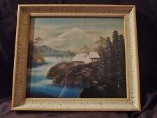tableau/cadre japonais-encadrement d'art/toile tissée-représentant le fujiyama
