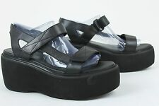 Vagabond Womens Alexis Leather Flatform Sandals Shoes Black 9.5 New