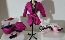 BARBIE SILKSTONE ROYALTY MUSE DOLL PURPLE BLACK LACE & PINK LINGERIE ACCESSORIES