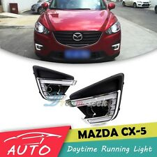 DRL LED DAYTIME RUNNING LIGHT FOG LAMP FOR MAZDA CX-5 2012 2013 2014 2015 2016