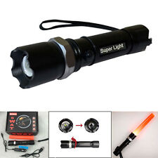 Hotsale LED Rechargeable Tactical SWAT 3Modes Flashlight with Charger Torch Lamp