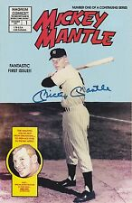 MICKEY MANTLE Signed Autographed Mickey Mantle Comic Book, #1, Mint, JSA LOA
