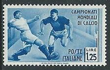1934 REGNO MONDIALI DI CALCIO 1,25 LIRE MH * - Y069