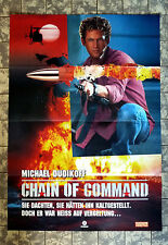 CHAIN OF COMMAND * VIDEO-POSTER A1 - German 1-Sheet ´94 MICHAEL DUDIKOFF