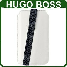 Genuine HUGO BOSS LEATHER CASE Apple iPhone 4 4s original wallet cover pouch
