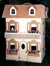 Woodworking plans for a deluxe folding six room Barbie house with furniture