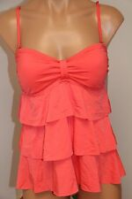 NWT Kenneth Cole Reaction Swimsuit Tankini Top Size L HCR Bandeau Ruffles