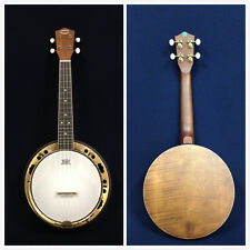 Caraya 64cm Banjo Ukulele,Concert Size,Flame Maple Resonator +Free Gig Bag,Picks