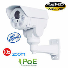 CCTV 1080P Mini Outdoor IP POE IR PTZ Camera 10x Zoom 2MP HD IP66 TF Card Slot