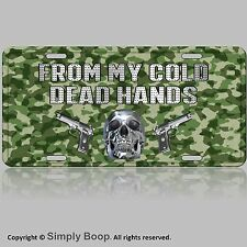 2nd Amendment From My Cold Dead Hands Skull Camouflage License Plate Gun Store