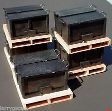 Steel Handled Chest Miniatures (2) w Pallet 1/24 Scale G Diorama Accessory Item