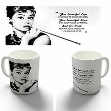 AUDREY HEPBURN BEAUTIFUL EYES QUOTE COFFEE MUG TEA CUP BIRTHDAY CHRISTMAS GIFT