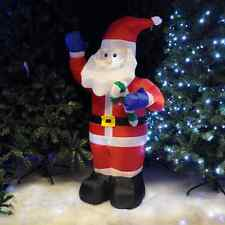 SANTA CLAUS FATHER CHRISTMAS 1.2Mtr INFLATABLE GARDEN DECORATION & LIGHTS BLOWSC