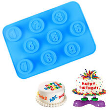 Silicone Number Cake Mould Fondant Decor Biscuit Cookie Cutter Birthday Mold
