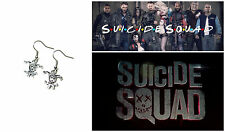 Suicide Squad DC Harley Quinn Dangle Earrings Cosplay Cute W/Gift Box USA Seller