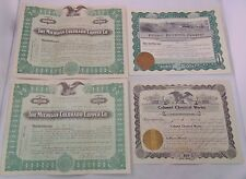 Mixed Calumet Michigan Colorado Oil/Copper/Chemical Stock Certificate Lot of 4