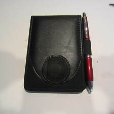 SCRIPTO LEATHER LIKE POCKET JOTTER NOTEPAD+ JUMP DRIVE HOLDER+ SCRIPTO PEN