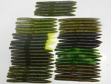 "45 - 5"" Senko Style Plastic Bass Fishing Worms - 9 Different Watermelon Colors"