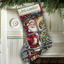 Dimensions D08778 | candy cane christmas stocking counted cross stitch kit 41cm