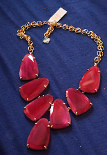 Kendra Scott -- Harlow Statement Necklace In Burgundy Illusion -- NWT SRP $225