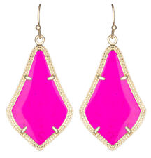 Kendra Scott Alex Earrings in Pink Rose Magenta & Gold