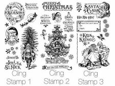 "GRAPHIC 45 ""ST. NICHOLAS"" CLING STAMP SETS 1, 2 & 3 (28 PCS) SCRAPJACK'S PLACE"