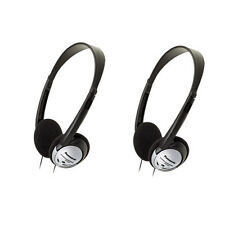 Lot of 2 Panasonic RP-HT21 Headphones Lightweight Headphones with XBS RPHT21