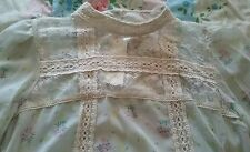 miss selfridge victoriana edwardian Rose lace blouse 12