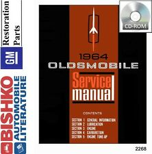 1964 Oldsmobile 98 88 Cutlass F85 Shop Service Repair Manual CD OEM Guide