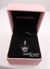 I LOVE MY MOM Authentic PANDORA Silver HEART LOCKET Dangle Charm NEW in PINK BOX