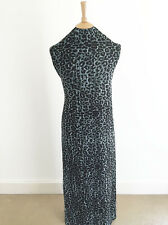 Leopard Print on Space Dyed (Marl)Stretch Jersey Dressmaking Fabric
