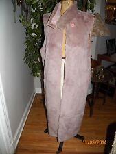 vintage long pink sheared rabbit fur? coat liner vest s/m
