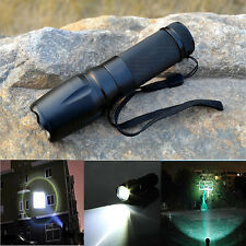 10000LM XML T6 LED Zoomable 5 Modes Police Tactical Flashlight 26650/18650 Torch