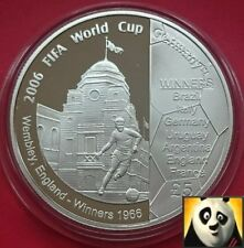 2006 GUERNSEY £5 FIVE POUND SILVER PROOF COIN WORLD CUP WEMBLEY ENGLAND WINNERS