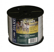 USA Dare 1/2 Inch Poly Electric Fence Horse Tape 656ft