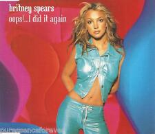 BRITNEY SPEARS - Oops!... I Did It Again (UK 3 Tk CD Single Pt 1)